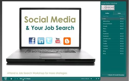 social media job search